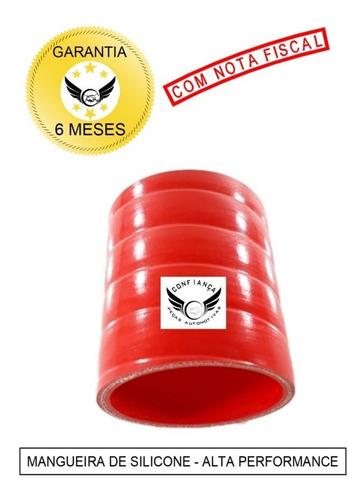Mangueira Mangote Silicone 3 X 100mm Pressurização Vermelho