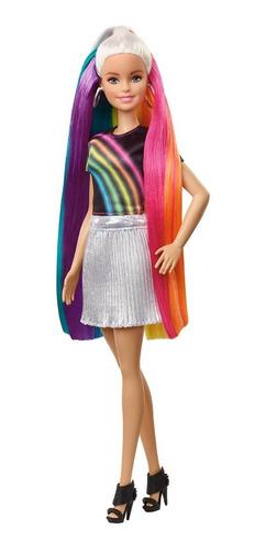 Muñeca Para Niñas Barbie Fashionista Peinados De Arcoíris
