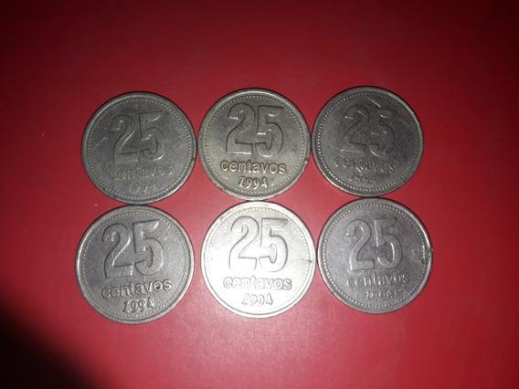 Vendo Moneda De 25 Centavos, Año 1993, 1994 Y 1996