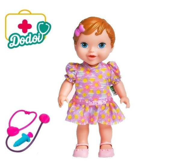 Boneca Babys Collection Dodói Brincando De Médica Morena