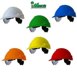 Casco Seg Ajus Matraca C/visor + Suspensión Promo