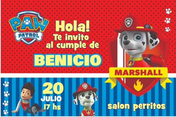 Invitaciones Paw Patrol Patrulla Canina