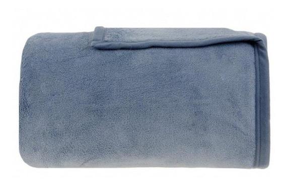 Cobertor Buddemeyer Aspen Casal azul liso