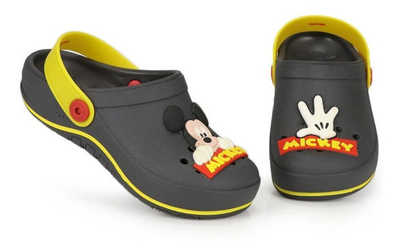 Sandália Clog Infantil Grendene Mickey Symbol Babuch