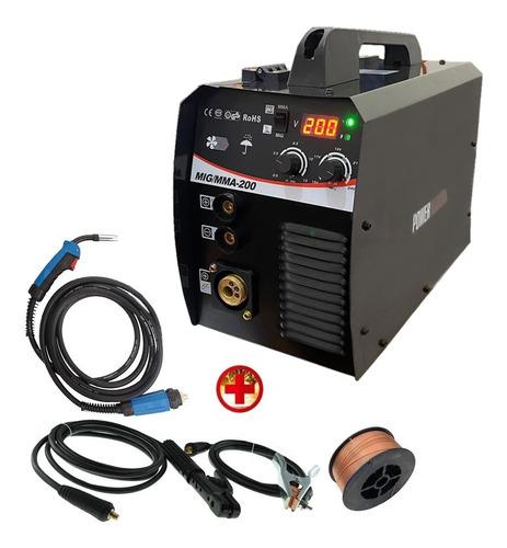 Imagen 1 de 5 de Soldadora Mig Y Electrodo 200 Amp Con Y Sin Gas + Alambre