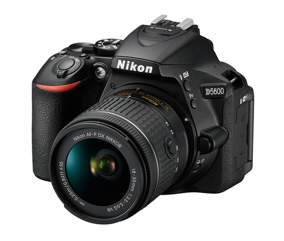 Câmera Nikon Dslr D5600 Com Lente Af-p 18-55mm Vr Preto