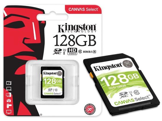 Cartao De Memoria Classe 10 Kingston Sds 128gb Sdxc 128gb 80