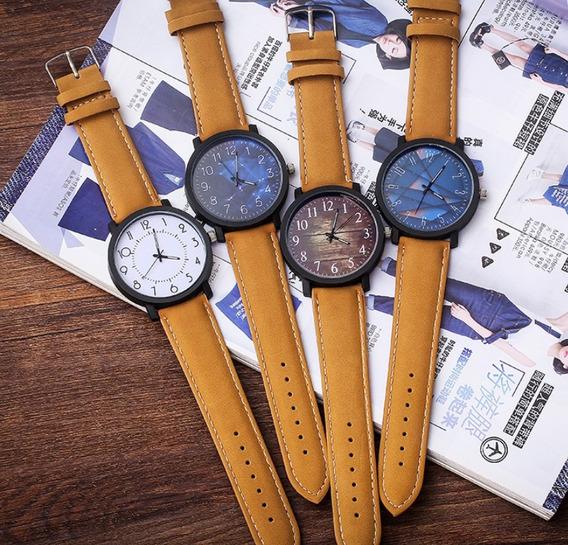 Reloj Caballero Moda 2019 Caratula Varios Modelos Cafe