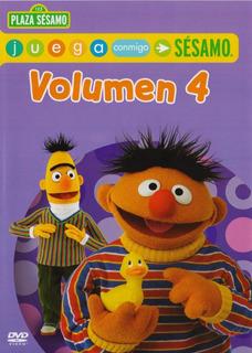 Plaza Sesamo Juega Conmigo Volumen 4 Cuatro Dvd
