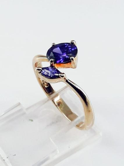 Anel Semi-jóia Folheado À Ouro 18k Feminino