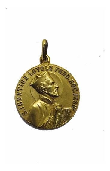 Medalla Oro 18k San Ignacio De Loyola #1221 Bautizó Comunión