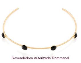 Gargantilha Choker Pedras Pretas Rommanel 531890