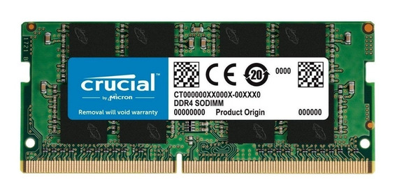 Memoria Ram Crucial Sodimm Ddr4 8gb 2666mhz Notebook Mac Lv