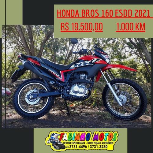 Imagem 1 de 7 de -honda Nxr 160 Bros Esdd 2021 Vermelha Novíssima!!!