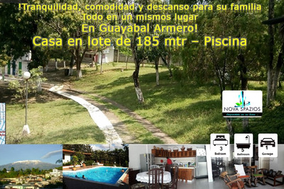 Vendo Cómoda Casa Guayabal Armero - Lote 185 Mt