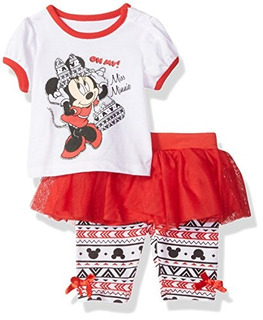 Disney Babygirls Recien Nacido Minnie Mouse 2 Piezas Skeggin