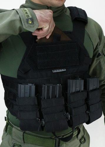 Imagem 1 de 6 de Colete Airsoft Tático Militar Tactical Dacs - Preto Top