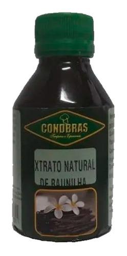 Imagem 1 de 2 de Extrato De Fava De Baunilha Natural 100ml Condbras