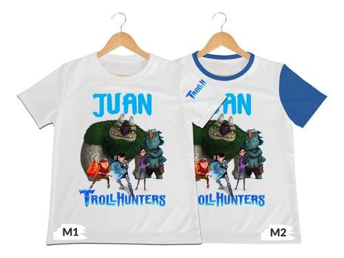 Camiseta Niño Trollhunters Personalizada Poliester