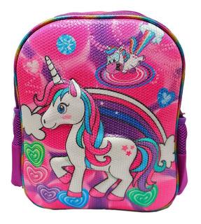Maleta Morral Pequeño Unicornio Espalda Pony Lentejuela