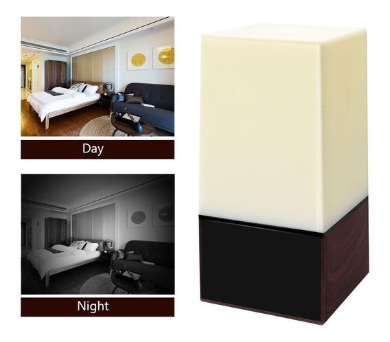 Cámara Oculta Velador 1080p Con Luces Seguridad Graba 64 Gb