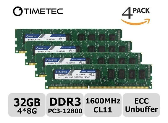 Memoria 32gb Ddr3 Pc3 Udimm Ibm X3100 M4 X3250 M4