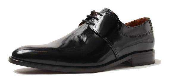 Zapato Democrata Hombre De Charol Doble Suela De Cuero 413
