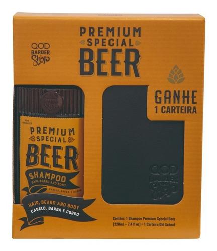 Imagem 1 de 2 de Kit Shampoo Special Beer + Carteira | Qbs