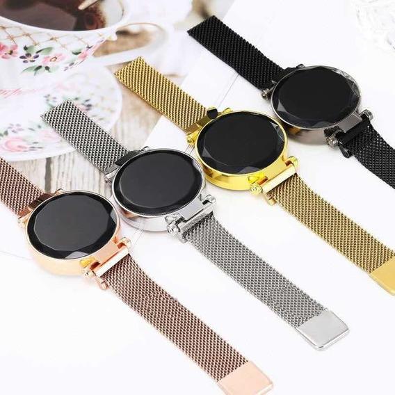 Reloj Corte Diamante Touch Mayoreo Minimalista