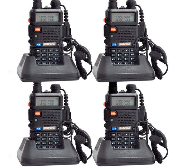Kit Handy X4 Baofeng Uv5r 8w 128 Canales Handie + 4 Baterias
