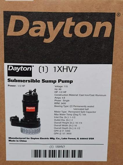 Bomba Sumergible Marca: Dayton, Modelo: 1xhv7