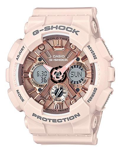 Relógio Casio G-shock Unissex Anadigi Rose Gma-s120mf-4adr