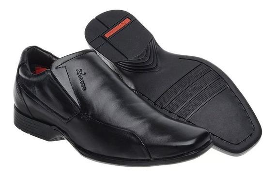 Sapato Masculino Forrado Confortável Solado Borracha Leve