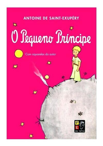 O Pequeno Príncipe Capa Rosa Com Aquarelas Do Autor