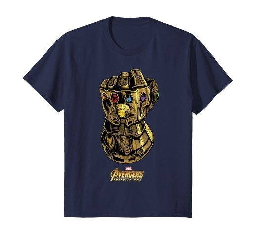 Camiseta Guante Thanos Infinity War Marvel Avengers Azul 1n