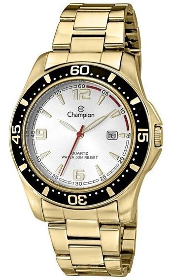 Relógio Masculino Champion Sport Dourado Fosco Ca30132h
