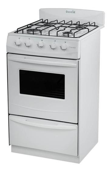 Cocina Escorial Candor S2 Gas Envasado 4 Hornallas Visor