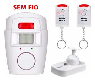 Kit Alarme Sem Fio Pop Residencial Sensor Sirene C Remoto