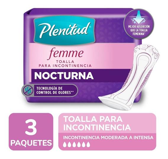 Plenitud Toalla Nocturna Femme X 20 Unidades Pack X 3