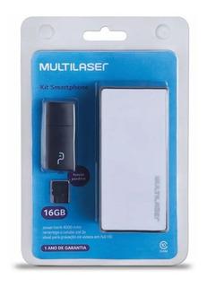 Kit Power Bank 4000 Mah Pendrive Cartão De Memória Micro S