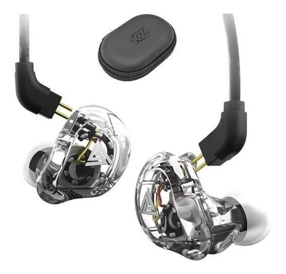 Fone Qkz Vk1 In Ear Dual Driver Retorno De Palco C/case Mic