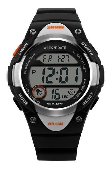Relógio De Criança Infantil Skmei Esportivo Digital 1077