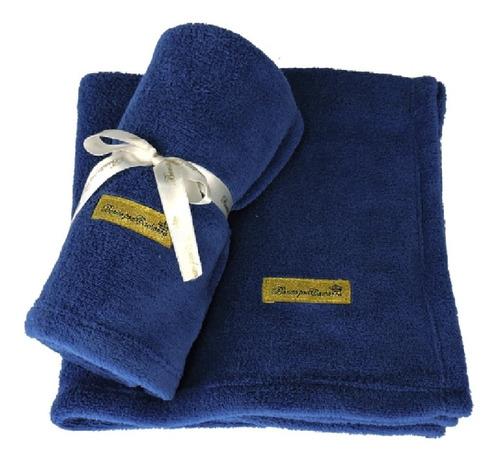 Cobertor Manta Pet Cães E Gatos Azul Marinho - Inverno