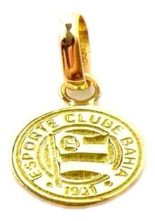 Pingente Futebol Ouro 18k Esporte Clube Bahia Pequeno + Porta Joias 0091
