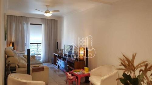 Apartamento Com 3 Dormitórios À Venda, 130 M² Por R$ 639.000,00 - Ingá - Niterói/rj - Ap2739
