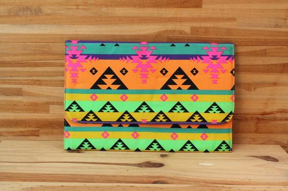 Bolsa De Mão Ombro Correntinha Étnica Asteca Estampada
