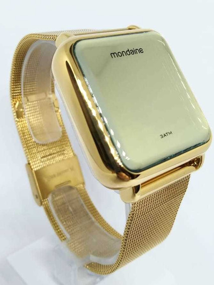 Relógio Digital Mondaine Quadrado Dourado 32008mpmvde1 - Nfe