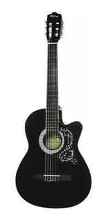 Guitarra Acustica Importada Negra Naylon