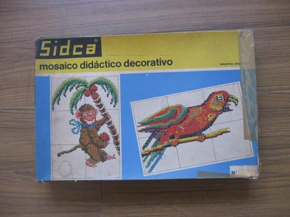 Antiguo Juguete Mosaico Didactico Decorativo