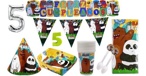 Kit Decoración Fiesta Osos Escandalosos - We Bare Bears